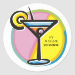 Cocktail Party Modern Martini Happy Hour Stickers