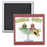 Fun Chill Out Chili Pepper Margarita Mexican Party Magnet