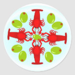 Lobster and Olives Cocktail/ Dinner Party Stickers